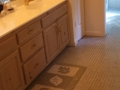 Bathroom remodel, floor and cabinets, before